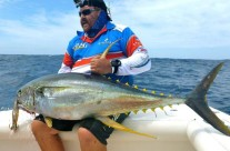catching a yellowfin tuna